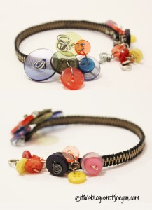 Zipper and Buttons Bracelet
