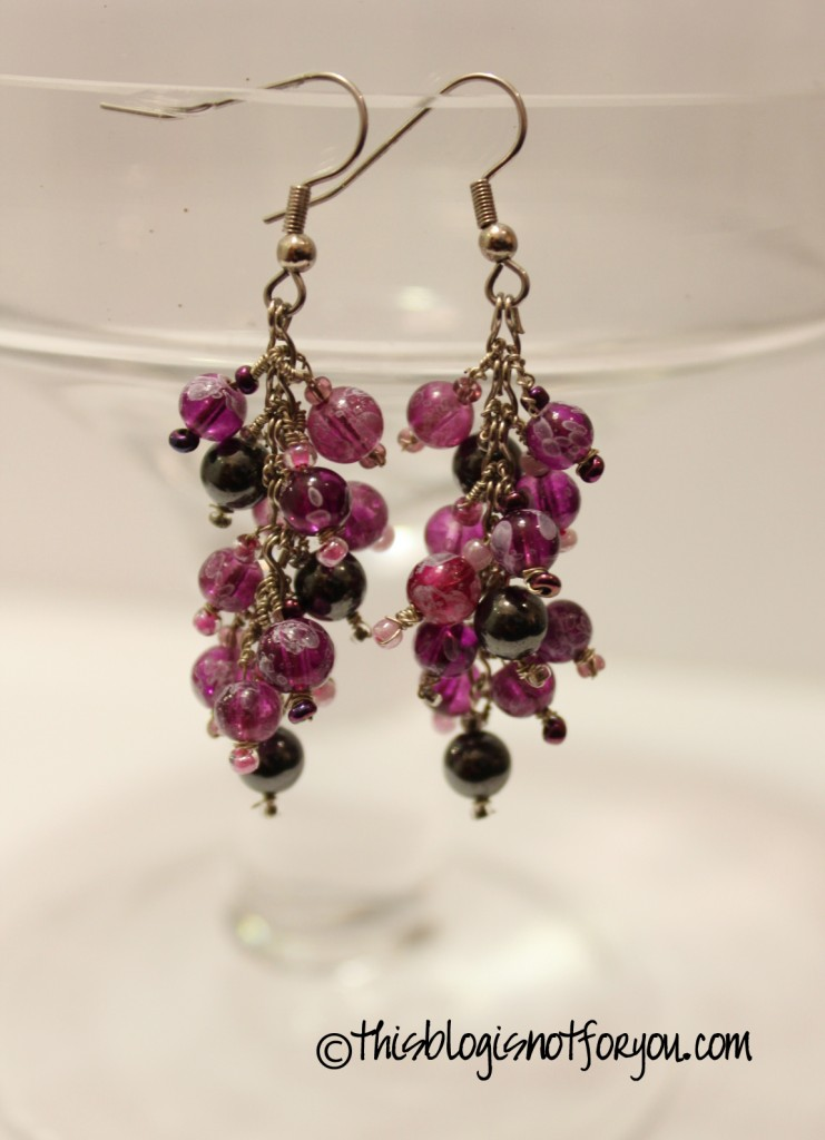 Diy Grape Earrings And Matching Bracelet This Blog Is