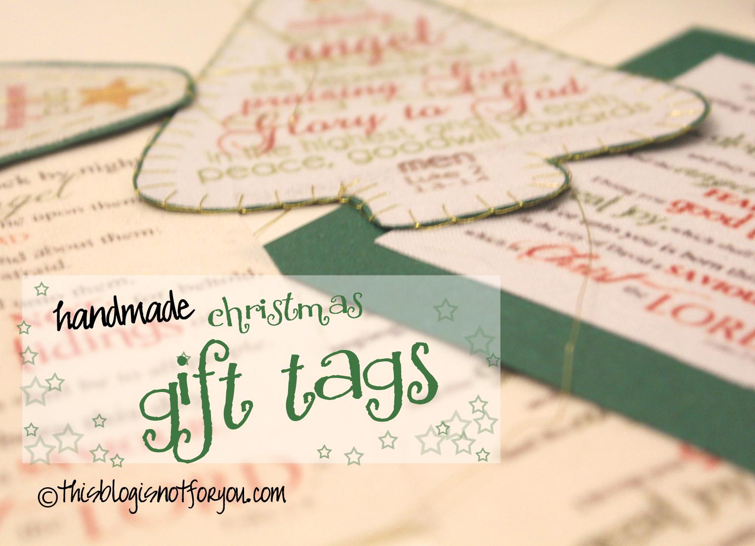 i - Christmas Tags Handmade