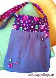 little lion bag with handmade buttons