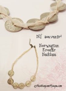 norwegian kroner necklace
