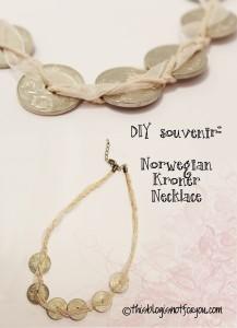 norwegian kroner necklace