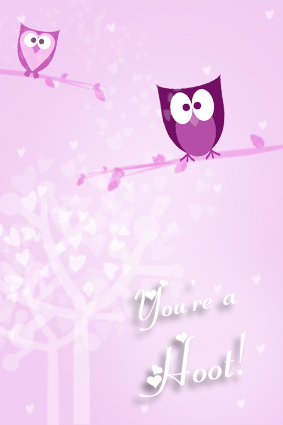 YoureaHoot Free Printable Valentine's Day Card