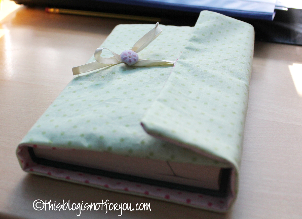 How To Sew Book Cover Tutorial ~ Book cover tutorial this is not for you