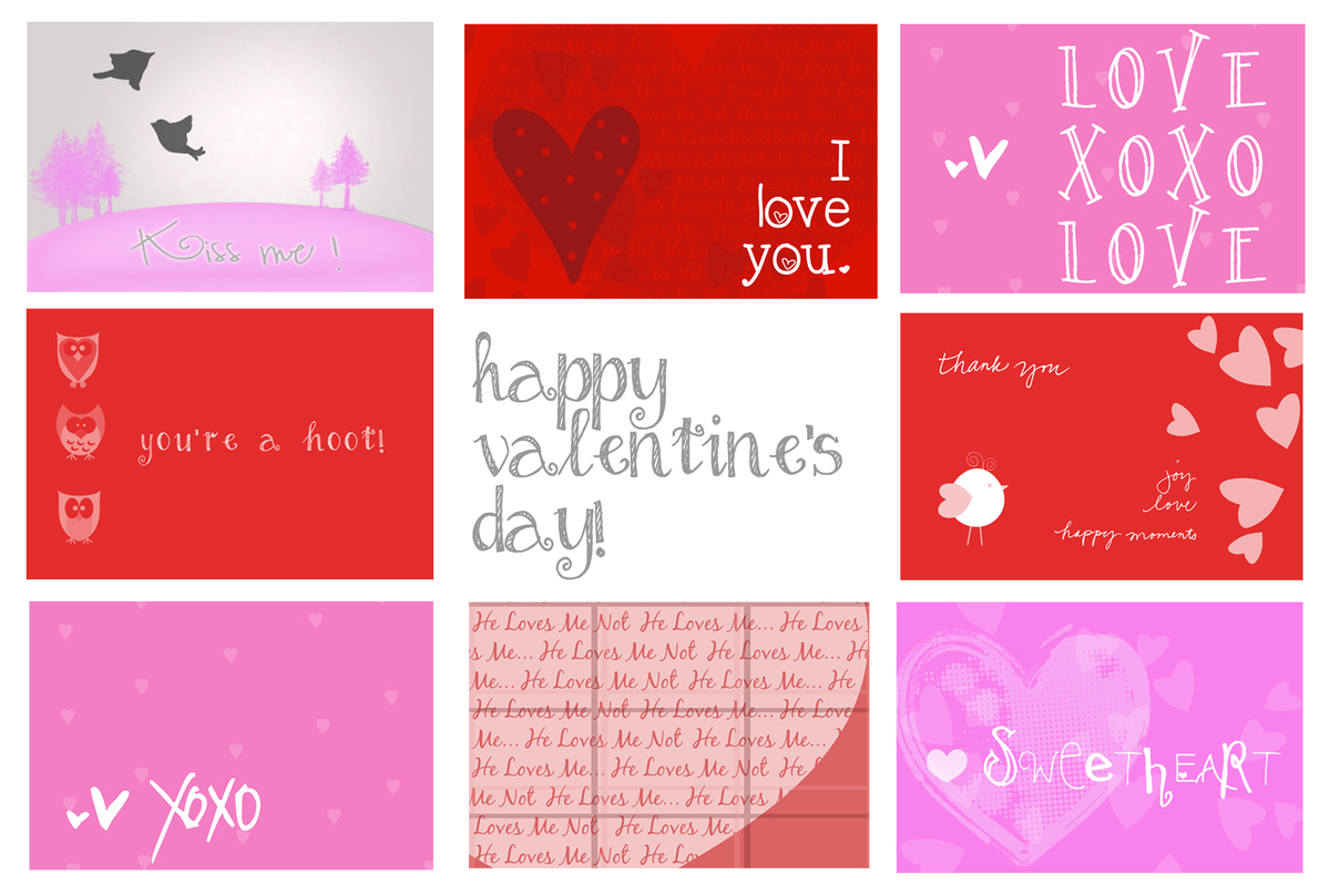 Printable Valentines Card printable valentines day cards