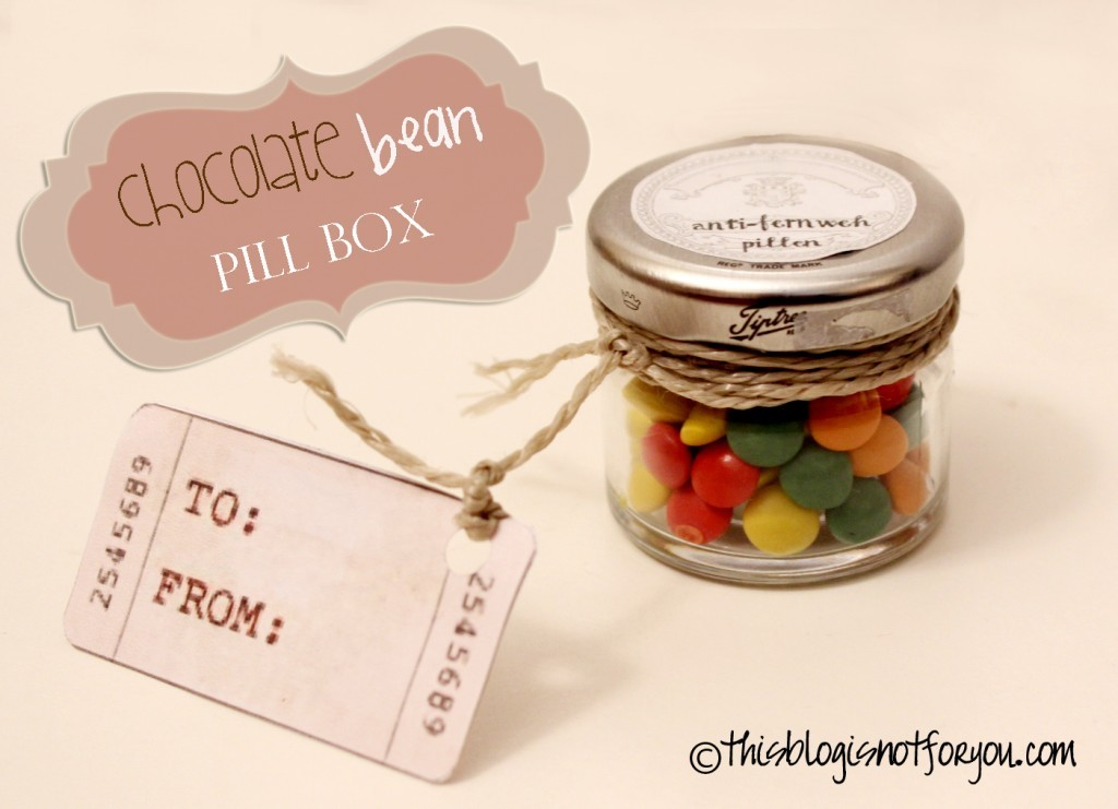 chocolate bean pillbox DIY