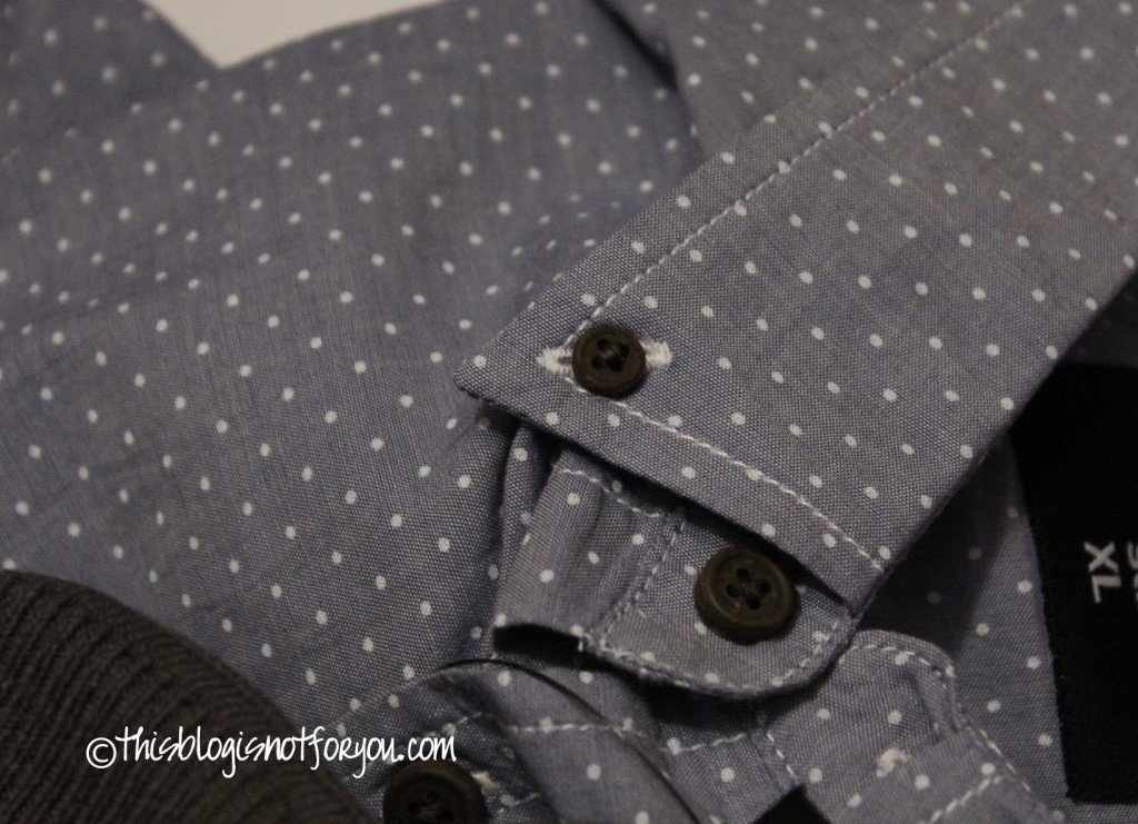 shirt fabric white dots