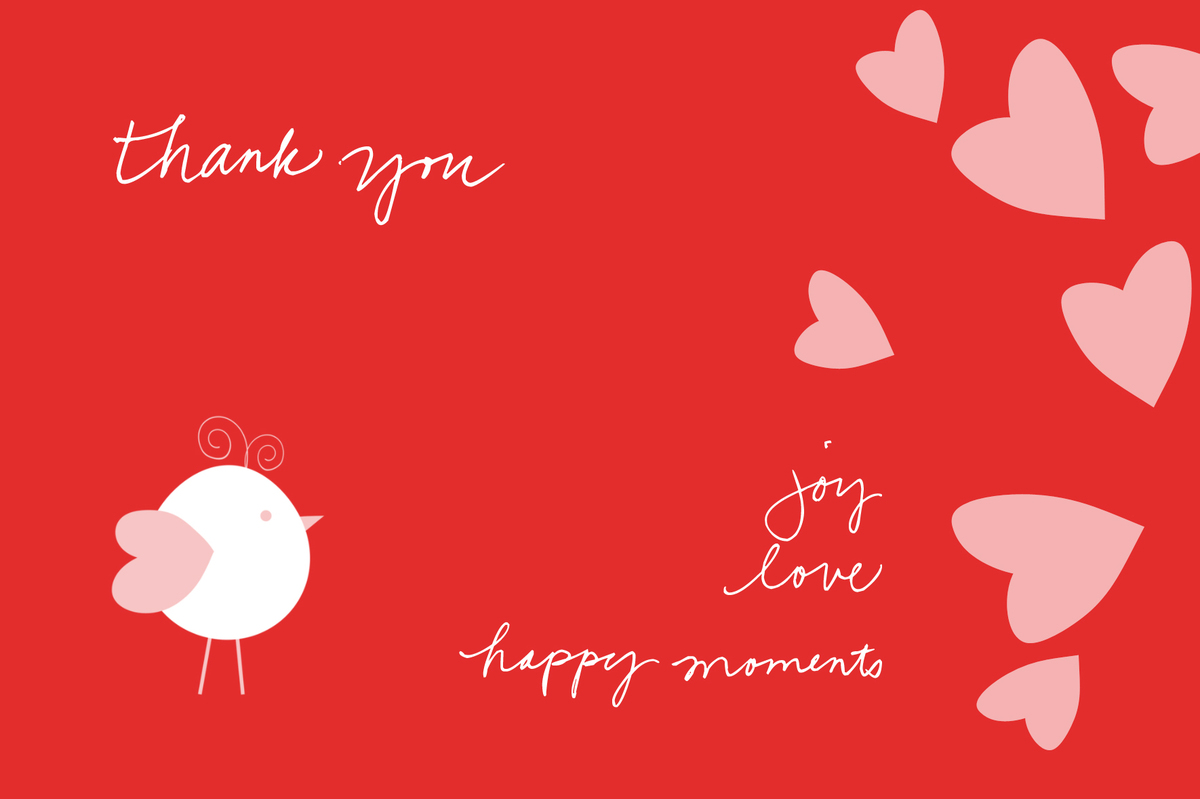 thankyou Free Printable Valentine's Day Card