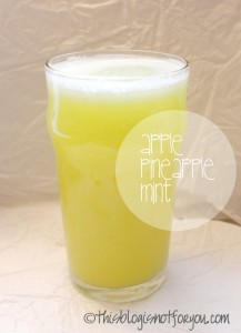 Apple Pineapple mint juice