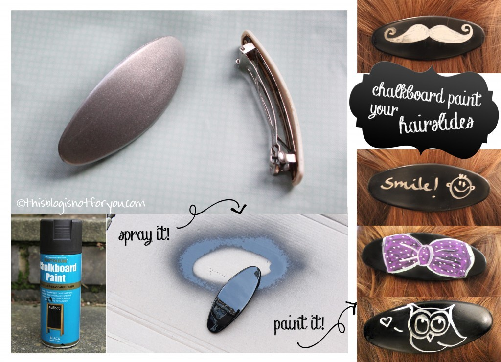 DIY chalkboard hairslides by thisblogisnotforyou.com