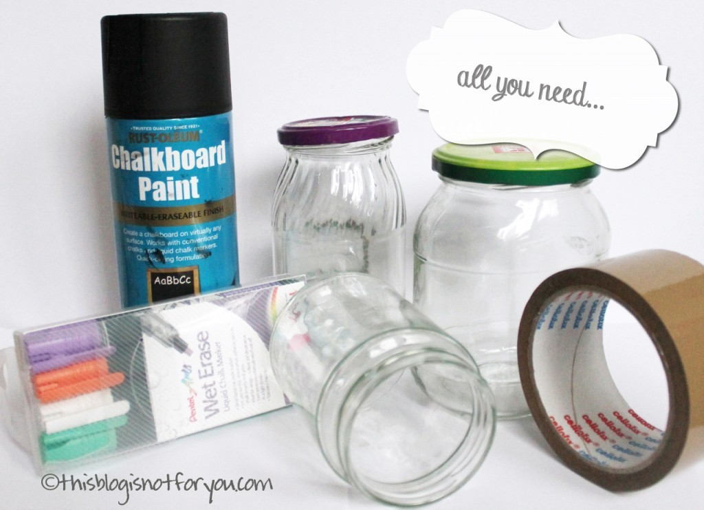 chalkboard paint organising jars by thisblogisnotforyou.com