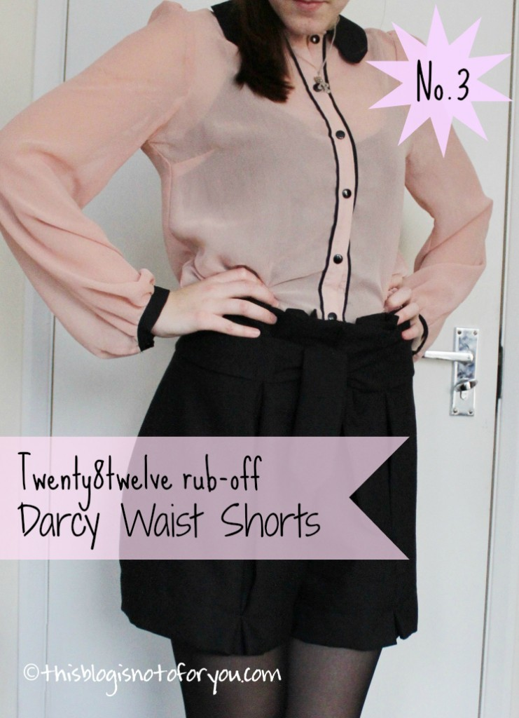 darcy waist shorts rub-off by thisblogisnotforyou.com