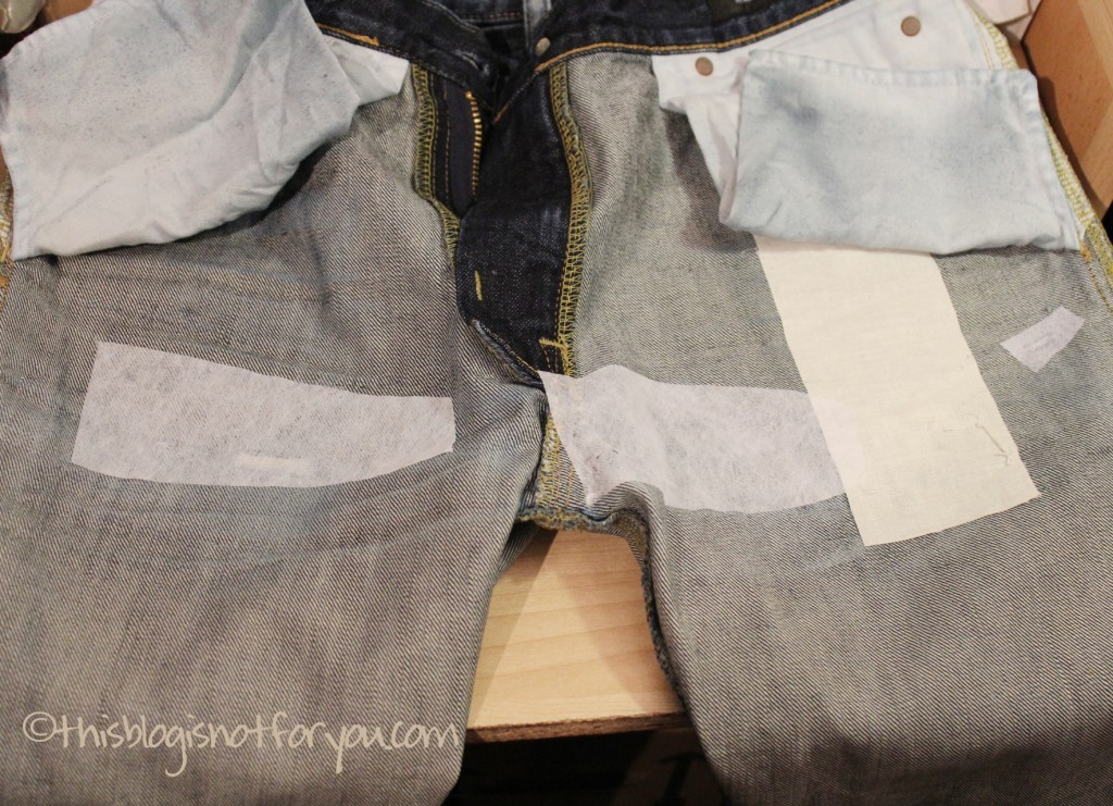 mending holes in jeans by thisblogisnotforyou.com