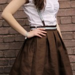 pleated skirt with suspenders by thisblogisnotforyou6