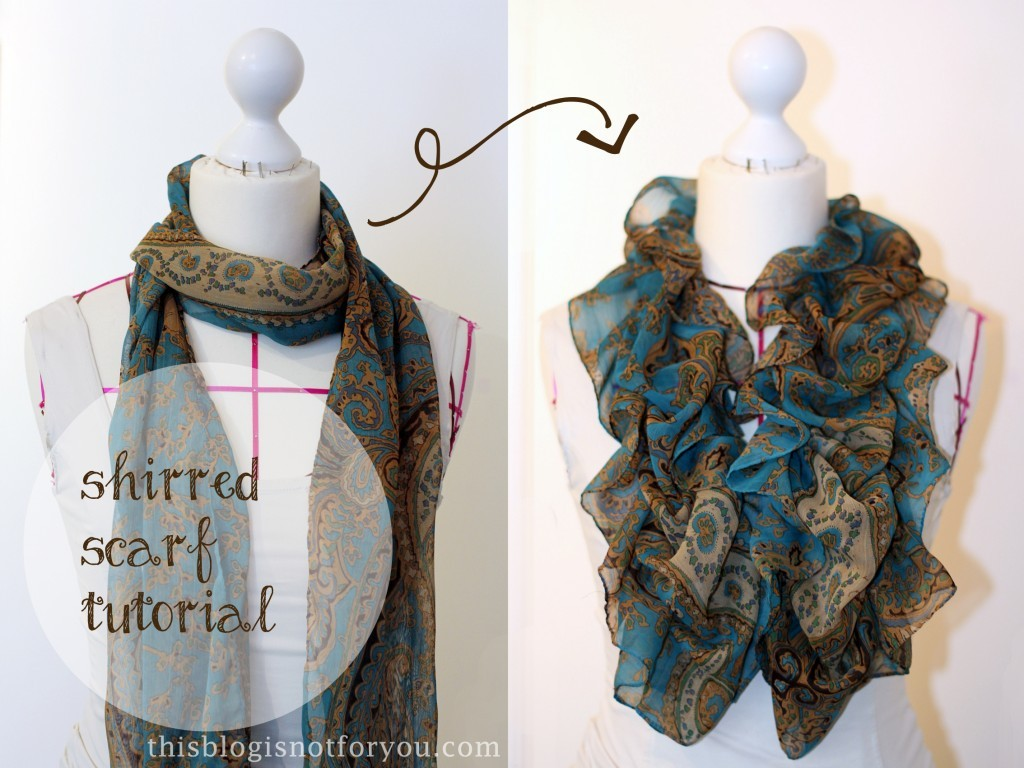 shirred scarf tutorial by thisblogisnotforyou.dev