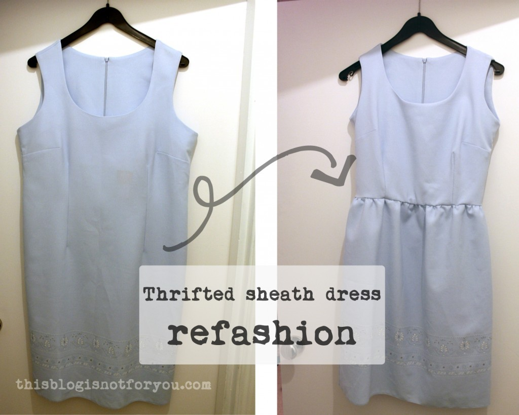 refashion sheath dress by thisblogisnotforyou.com