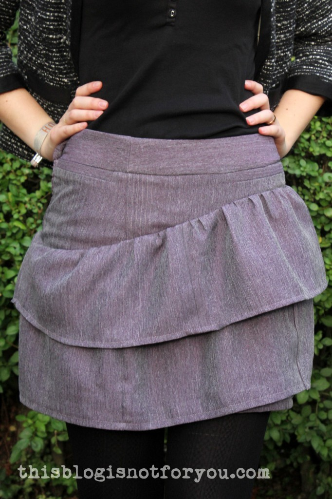 Autumn Skirt Refashion by thisblogisnotforyou.dev