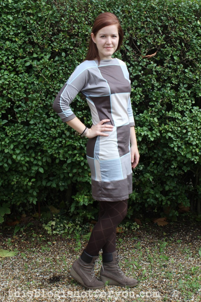no pattern jersey dress by thisblogisnotforyou.com