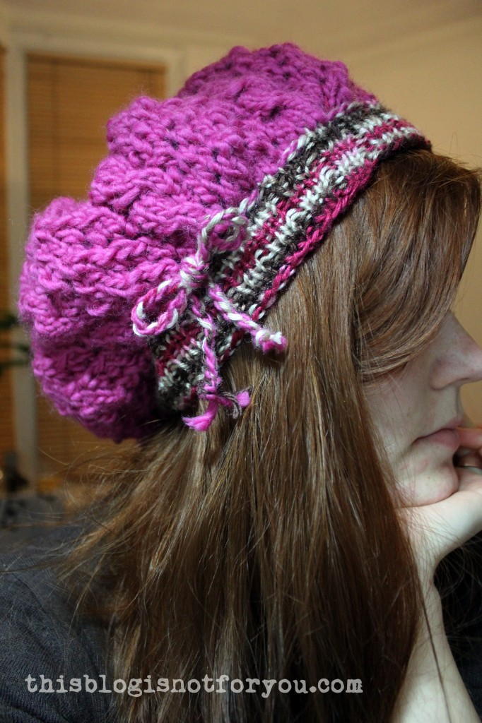 handmade knitted beanie by thisblogisnotforyou.com