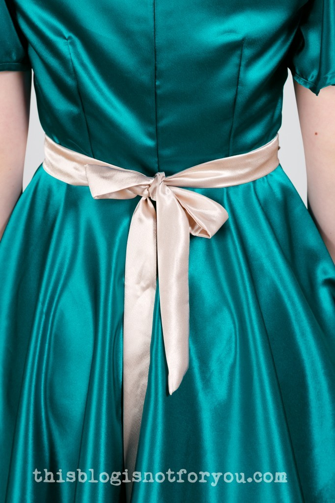 self-drafted bridesmaid dress by thisblogisnotforyou.com