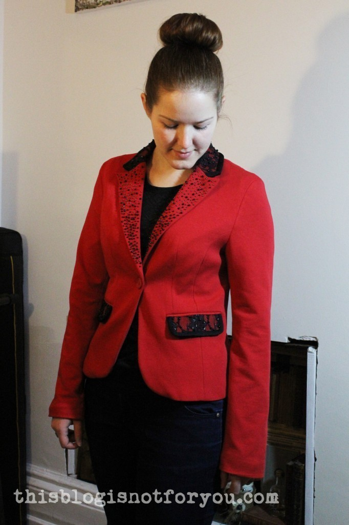 blazer refashion by thisblogisnotforyou.com
