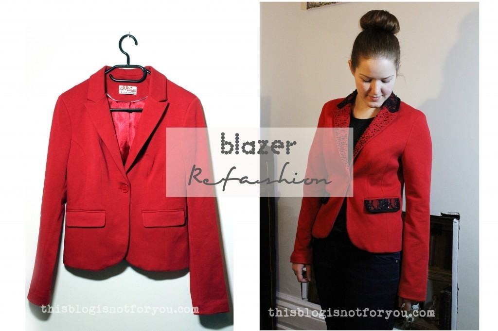 blazer refashion