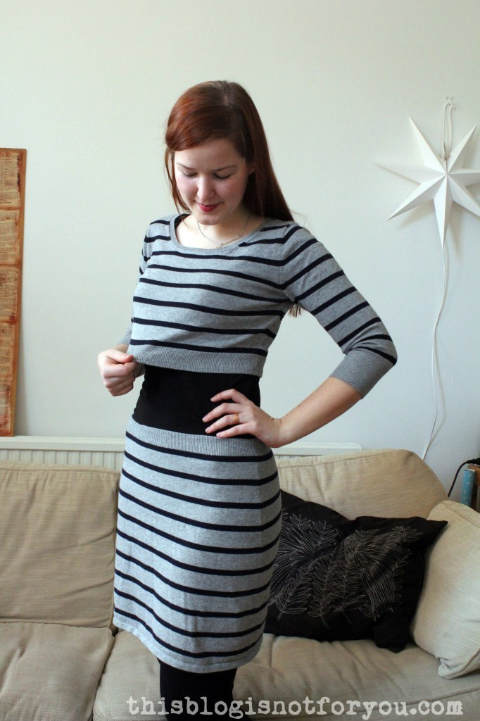 sweater dress refashion by thisblogisnotforyou.com