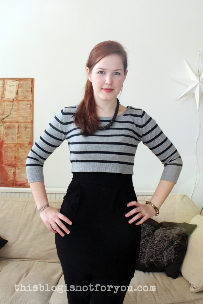 sweater dress refashion