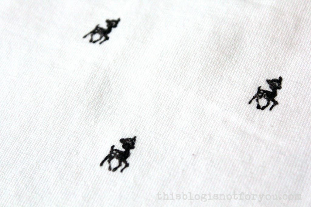 hand stamped Bambi tee by thisblogisnotforyou.com
