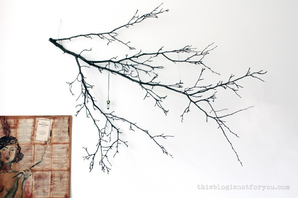 tree branch wall decor by thisblogisnotforyou.com