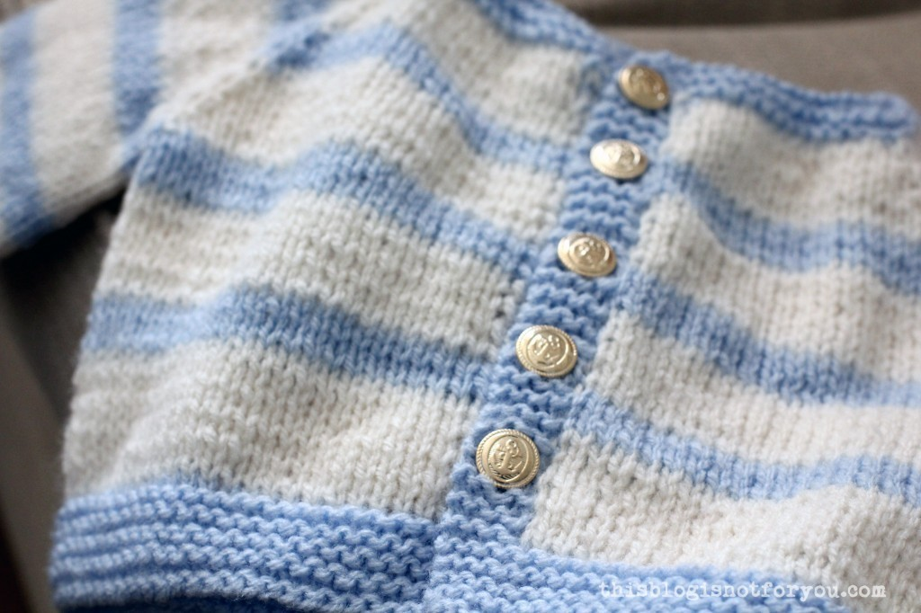Knitted Baby Cardigan by thisblogisnotforyou.com