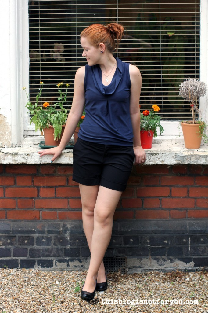 Jersey Cowl Neck Top by thisblogisnotforyou.com