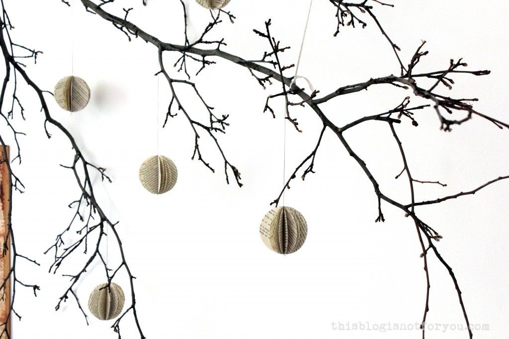 book paper ball decor by thisblogisnotforyou.com
