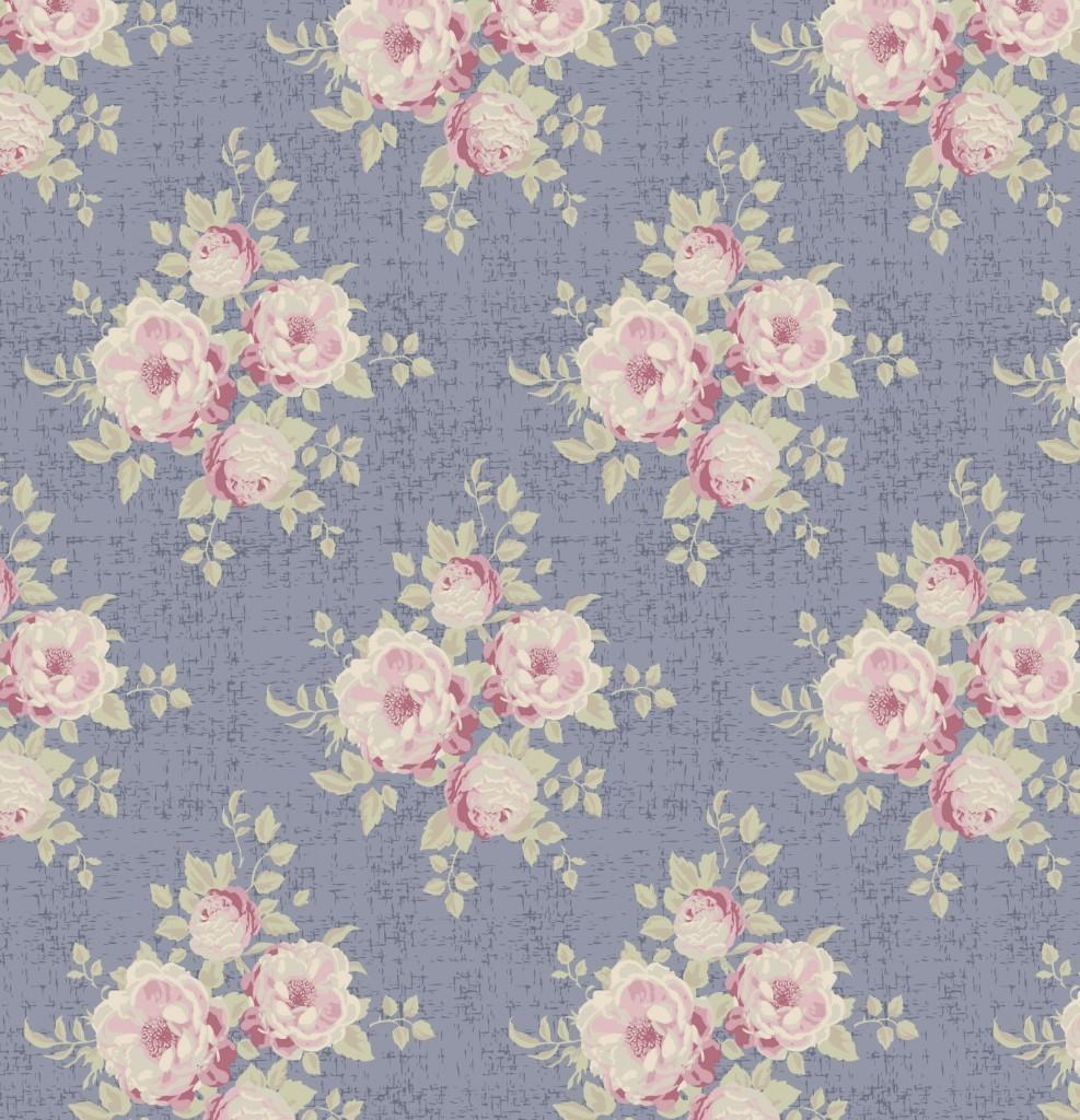 Tilda Ella Slate Blue fabric