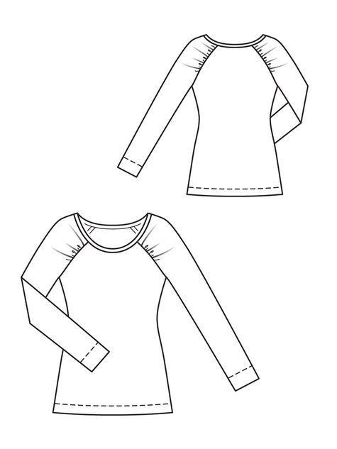 Burda Raglan Shirt 02/2013 #127