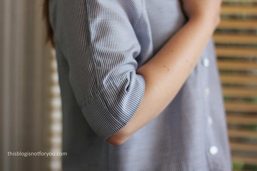 cropped blouse Burda Easy by thisblogisnotforyou.com