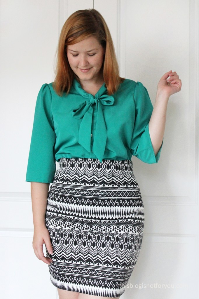 Lottie Blouse Hack and Pencil Skirt by thisblogisnotforyou.dev