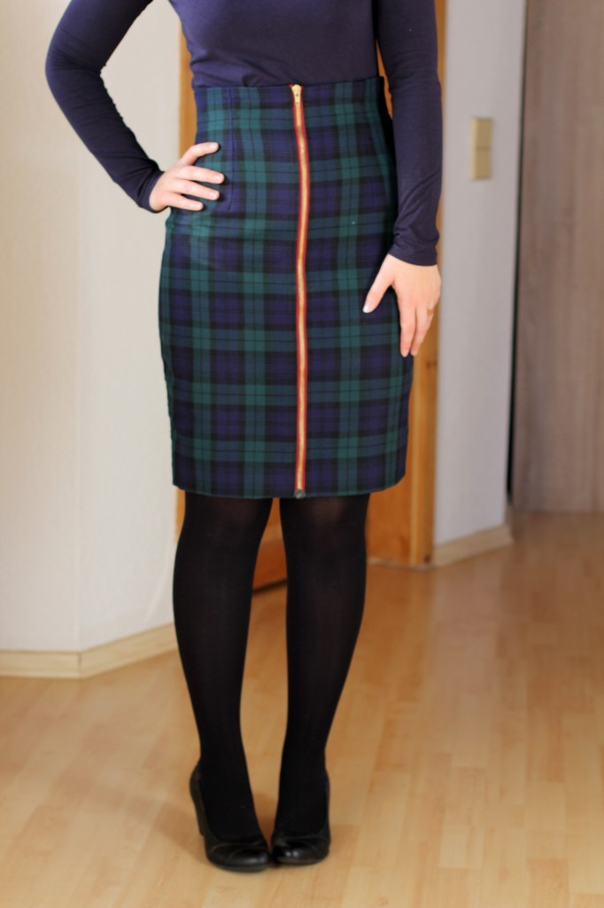 pencil skirt with front zip by thisblogisnotforyou.dev