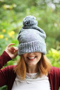 Recycled Denim Beanie (Free Pattern + Wool And the Gang Giveaway!)