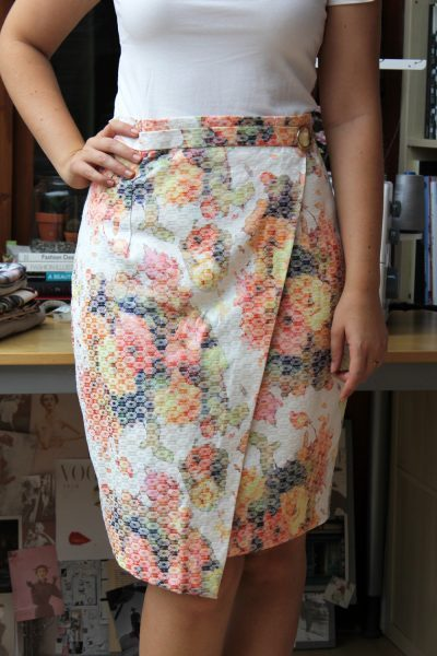 Faux Wrap Skirt Hack by thisblogisnotforyou.com