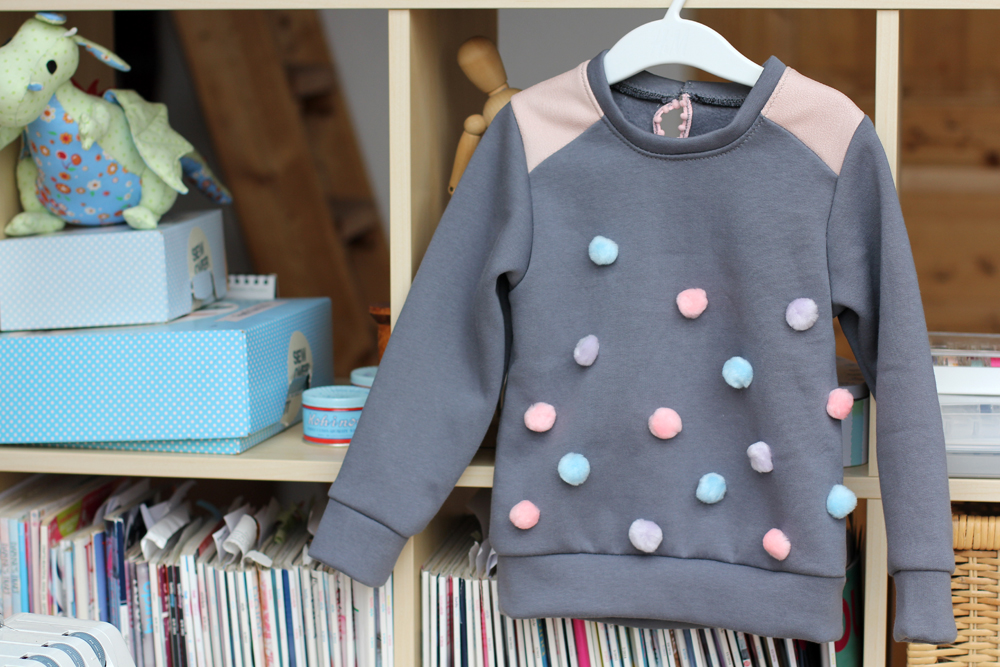 Toddler Pompom Dress by thisblogisnotforyou.com