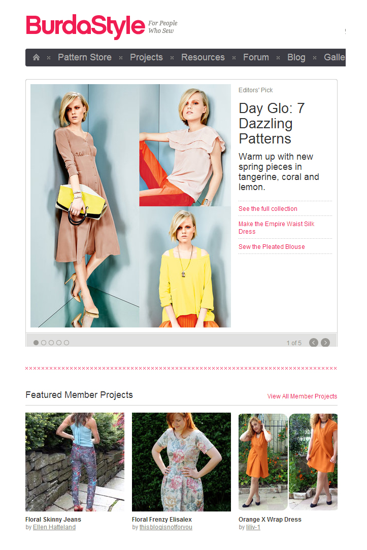 Burda Featured Member Elisalex Dress