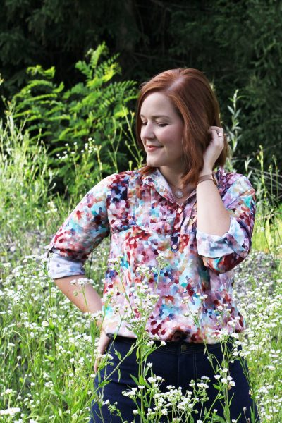 Mia Jeans and Carme Blouse by thisblogisnotforyou.com